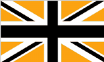 Great Britain Black and Gold Large Country Flag - 5' x 3'.